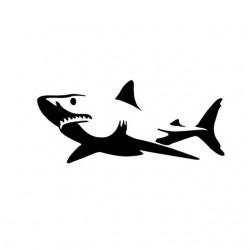 """стикер за кола """"акула Маямико"""""""