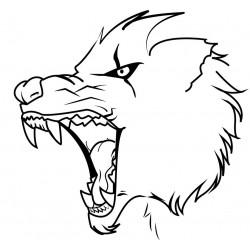 """стикер за врата """"вълк Абубакар"""""""