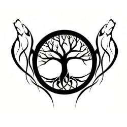 """стикер за кола """"дърво Вера"""""""