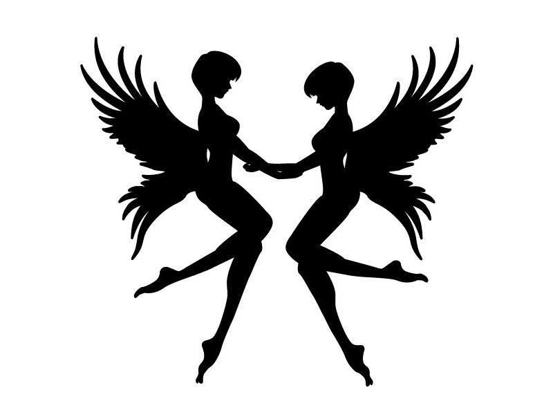 """стикер за кола """"ангелски момичета"""""""
