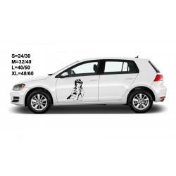 "стикер за кола ""момиче Августа"""