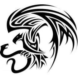 """стикер за кола """"орел и змия"""""""