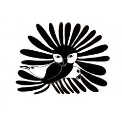 """стикер за кола """"сова и врани-инуити"""""""