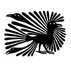 """стикер за кола """"птици Кора-Инуити"""""""