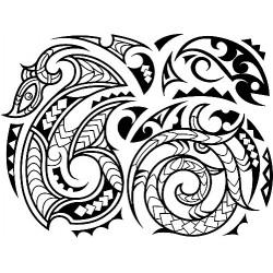 """стикер за кола """"орнамент кука-маори"""""""