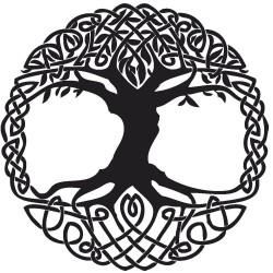 """стикер за кола """"дърво на живота-келти"""""""