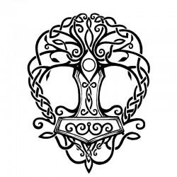 """стикер за кола """"дърво в келтски стил"""""""