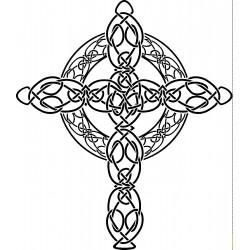 """стикер за кола """"келтски кръст"""""""