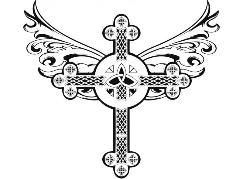 """стикер за кола """"келтски кръст с орнаменти"""""""