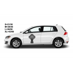"""стикер за кола """"изчистен келтски кръст"""""""