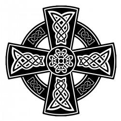 """стикер за кола """"келтски кръст-вариация"""""""