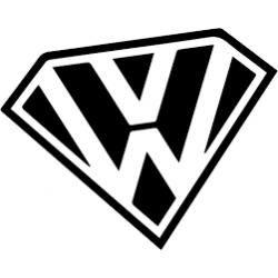 """стикер за кола """"super VW"""""""