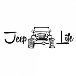 "стикер за кола ""Jeep живот"""