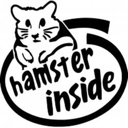 """стикер за кола """"hamster inside"""""""