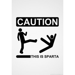 """стикер за кола """"Внимание!Спарта"""""""