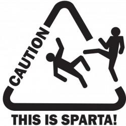 """стикер за кола """"Това е Спарта!"""""""