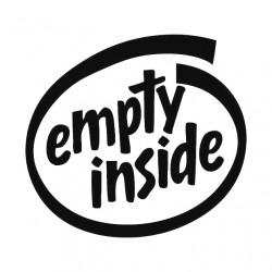 """стикер за кола """"empty inside"""""""