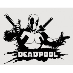 """стикер за кола """"Deadpool""""с мечове"""""""
