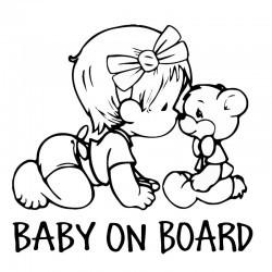 """стикер за кола """"Бебе в колата"""""""