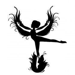 "стикер за кола ""Танцуващ ангел"""