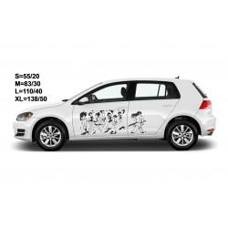 """стикер за кола """"Самурай Джак"""""""