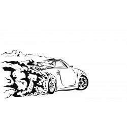 """стикер за кола """"Кола в дрифт"""""""