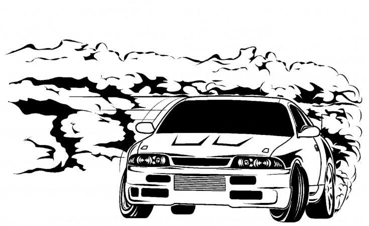 """стикер за кола """"Кола в дрифт-спорт"""""""