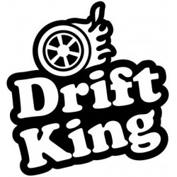 "стикер за кола ""Drift King-вариация"""