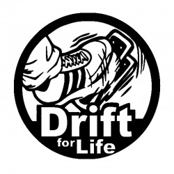 "стикер за кола ""Drift for Life"""