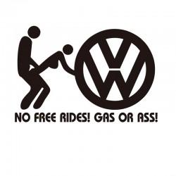 """стикер за кола """"VW No Free Ride"""""""