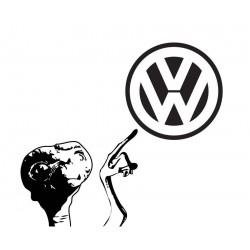 """стикер за кола """"VW-Извънземното"""""""