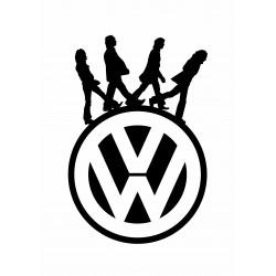 """стикер за кола """"бийтълс VW"""""""