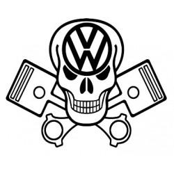 "стикер за кола ""череп с бутала и лого"""