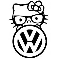 "стикер за кола ""kitty VW"""