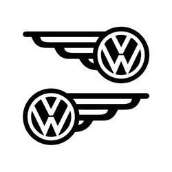 """стикер за кола """"VW Криле - 2 бр"""""""