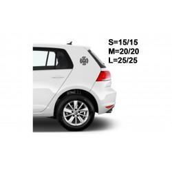 """стикер за кола """"VW вариация"""""""