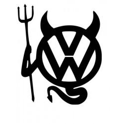 """стикер за кола """"VW дявол"""""""