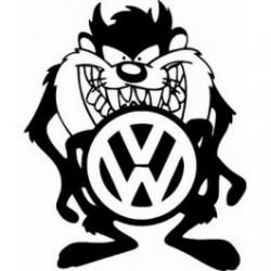 "стикер за кола ""VW тасманийски дявол"""