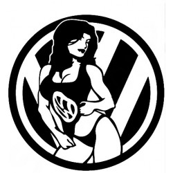 "стикер за кола ""VW момиче"""