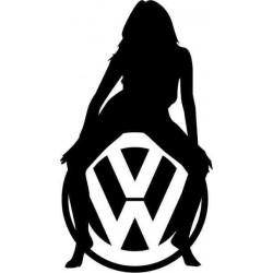 """стикер за кола """"VW силует"""""""