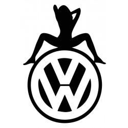 """стикер за кола """"VW женски силует"""""""