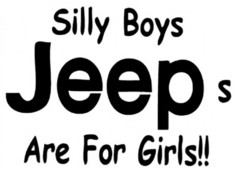 "стикер за кола ""Jeep-silly"""