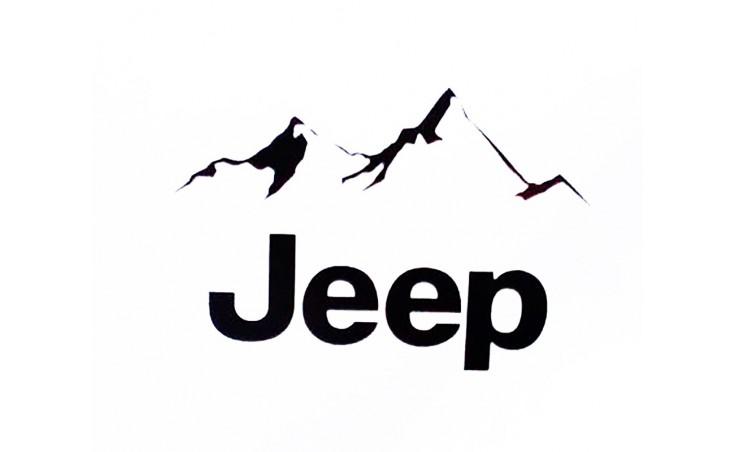 "стикер за кола ""Jeep планини"""