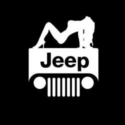"""стикер за кола """"Jeep силует"""""""