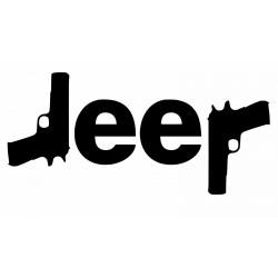 """стикер за кола """"Jeep пистолети"""""""