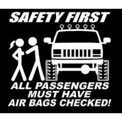 """стикер за кола """"сигурността на първо място"""""""