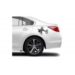 """стикер за кола """"Японски шаран Кои"""""""