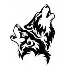 """стикер за кола """"виещи вълци"""""""
