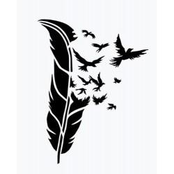 """стикер за кола """"птици от перо"""""""