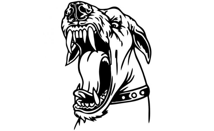 """стикер за кола """"куче Джино"""""""